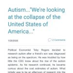"""Autism...""""We're looking at the collapse of the United States of America..."""""""