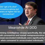 Flu Vaccine Increases Coronavirus Risk 36% Says Military Study